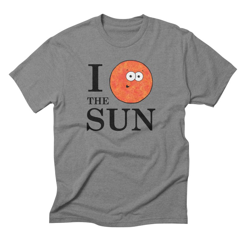 I Heart The Sun Men's Triblend T-Shirt by Adrienne Body