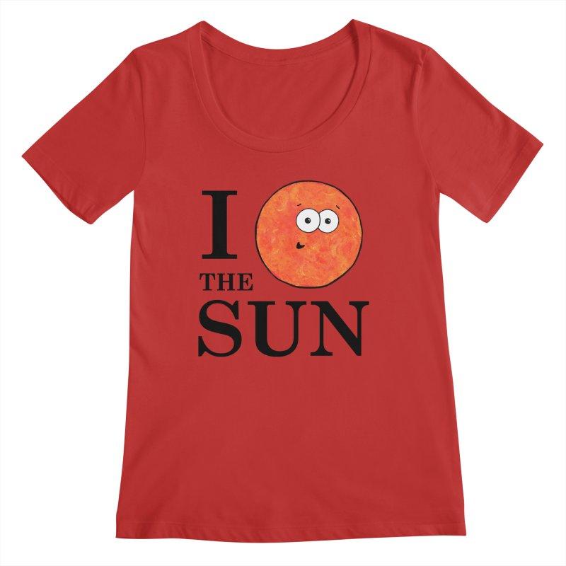 I Heart The Sun Women's Regular Scoop Neck by Adrienne Body