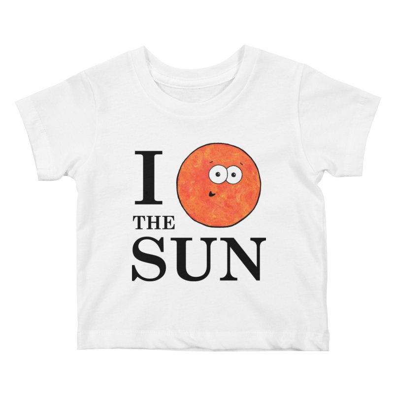 I Heart The Sun Kids Baby T-Shirt by Adrienne Body