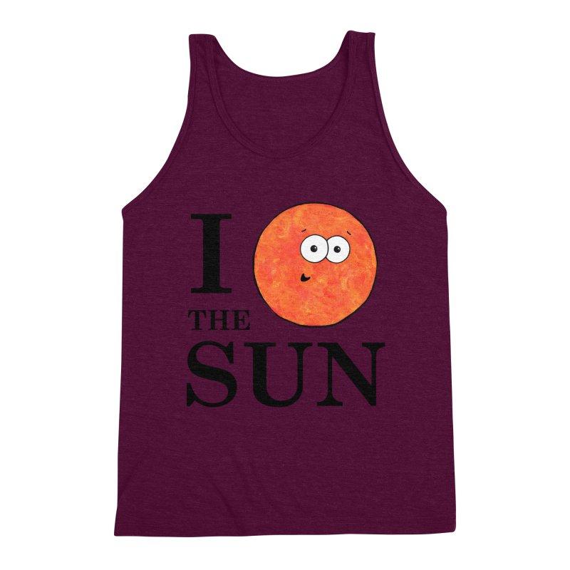 I Heart The Sun Men's Triblend Tank by Adrienne Body