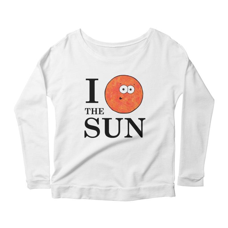 I Heart The Sun Women's Scoop Neck Longsleeve T-Shirt by Adrienne Body