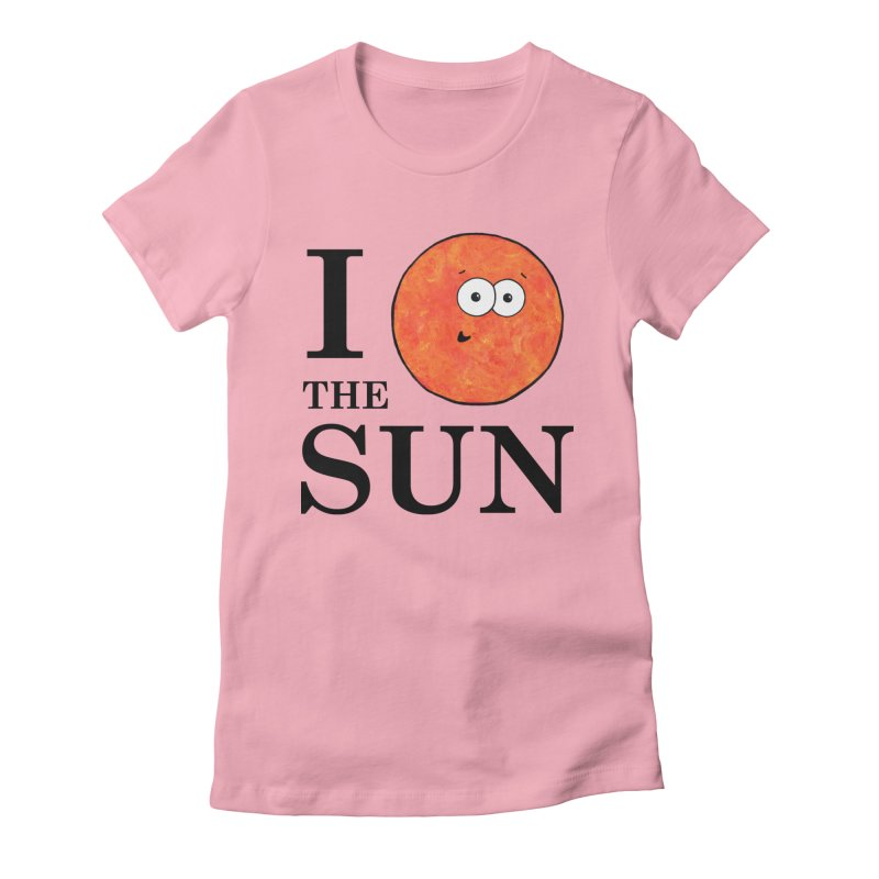 I Heart The Sun Women's Fitted T-Shirt by Adrienne Body