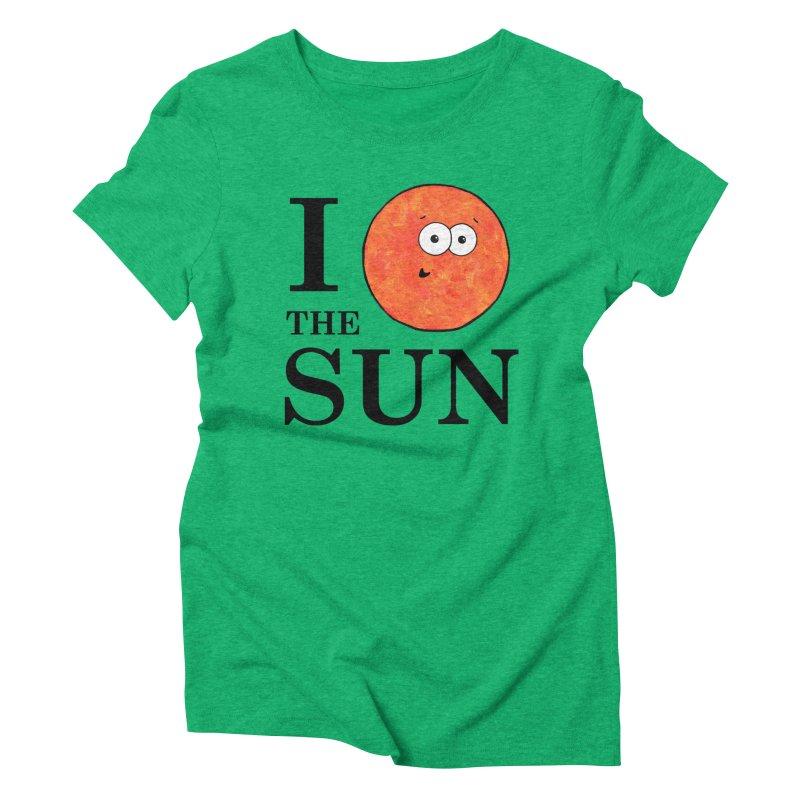 I Heart The Sun Women's Triblend T-Shirt by Adrienne Body
