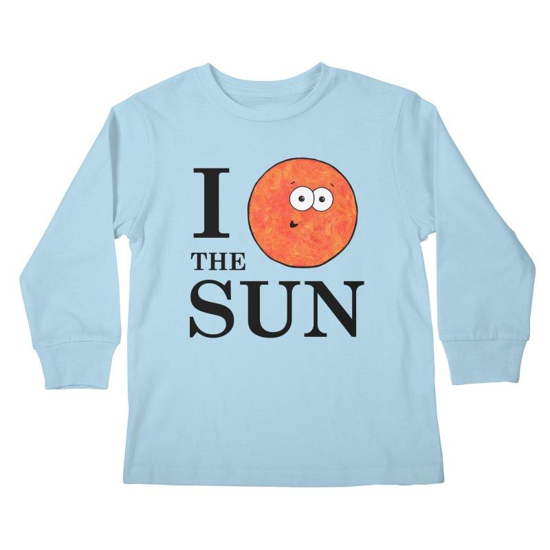 I Heart The Sun Kids Longsleeve T-Shirt by Adrienne Body