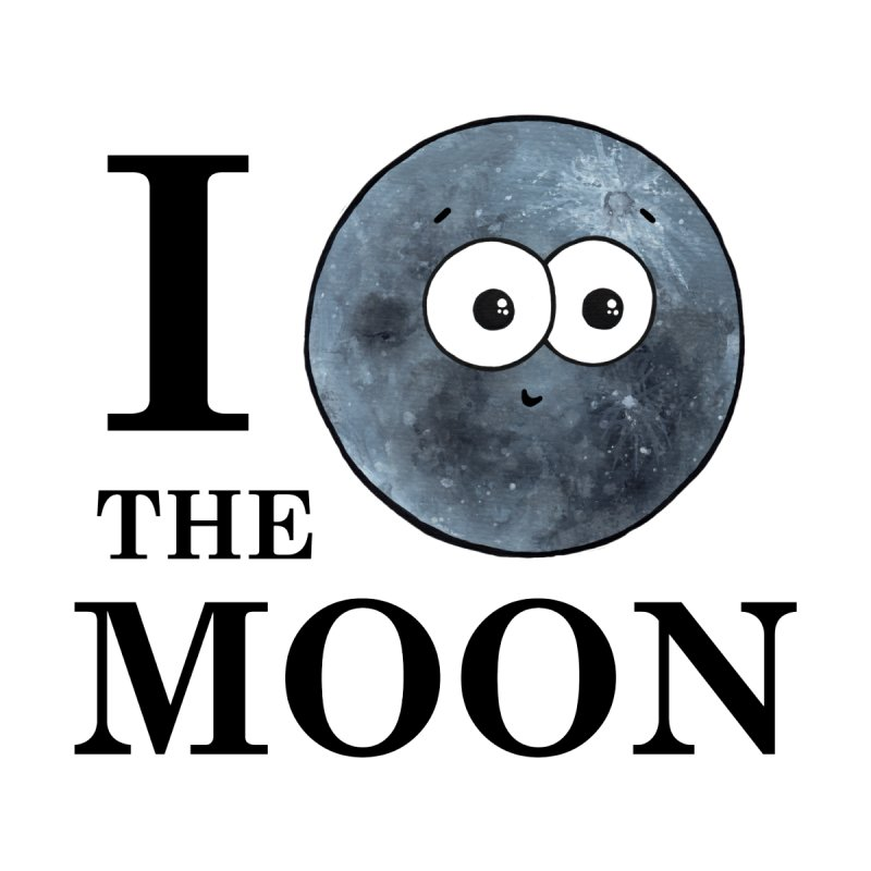 I Heart The Moon Men's T-Shirt by Adrienne Body