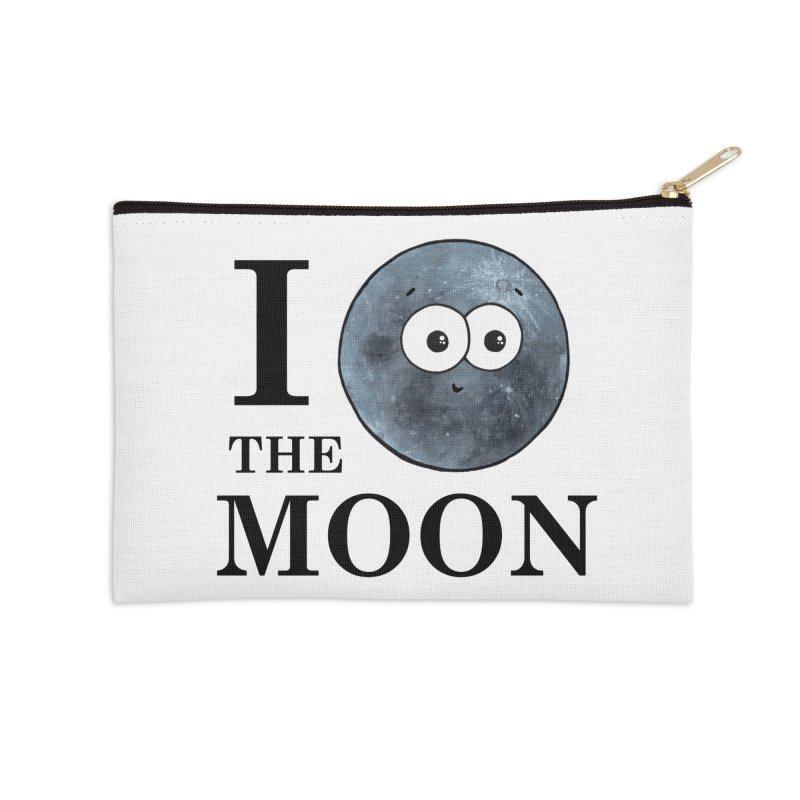 I Heart The Moon Accessories Zip Pouch by Adrienne Body