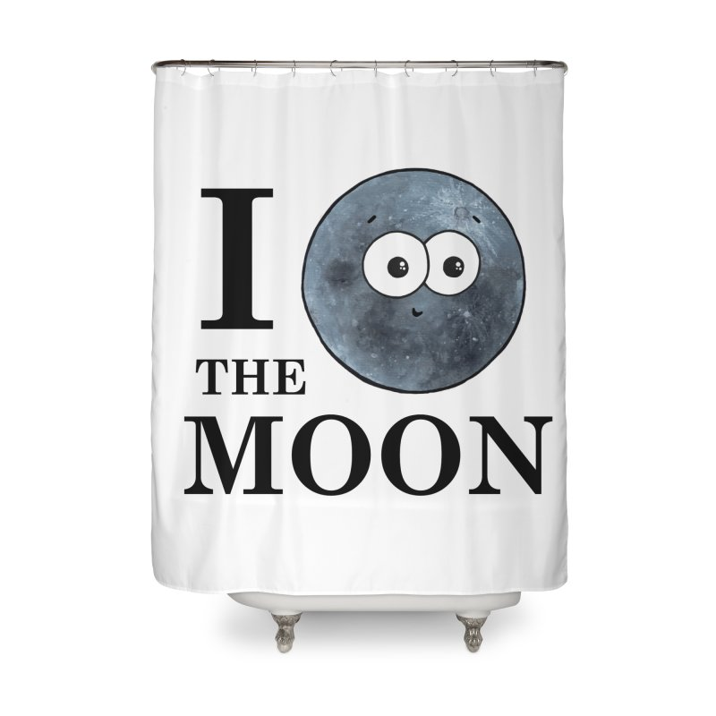 I Heart The Moon Home Shower Curtain by Adrienne Body