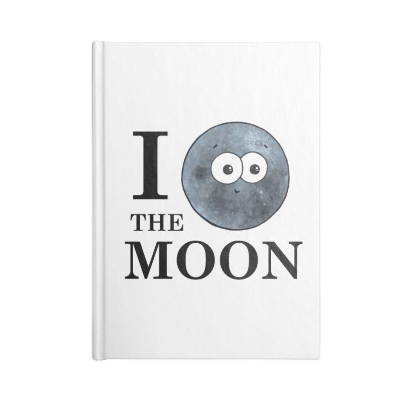 I Heart The Moon Accessories Lined Journal Notebook by Adrienne Body