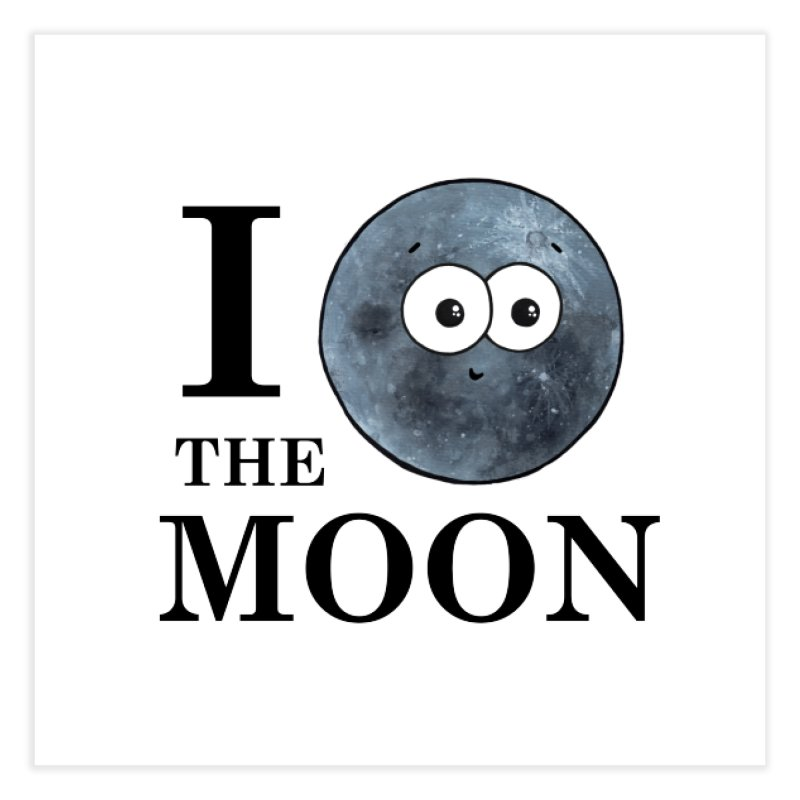 I Heart The Moon Home Fine Art Print by Adrienne Body