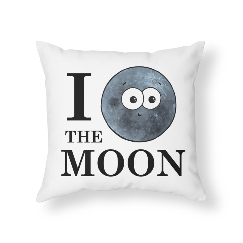 I Heart The Moon Home Throw Pillow by Adrienne Body
