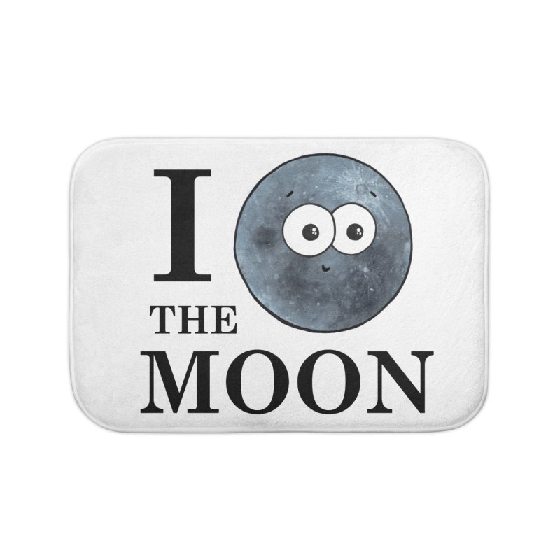 I Heart The Moon Home Bath Mat by Adrienne Body