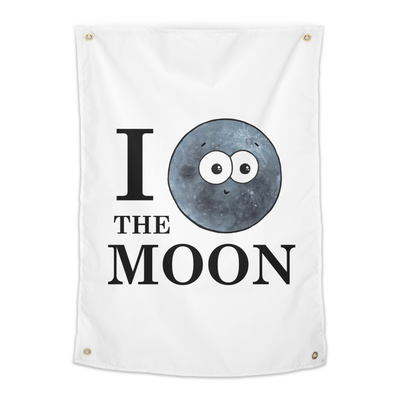 I Heart The Moon Home Tapestry by Adrienne Body
