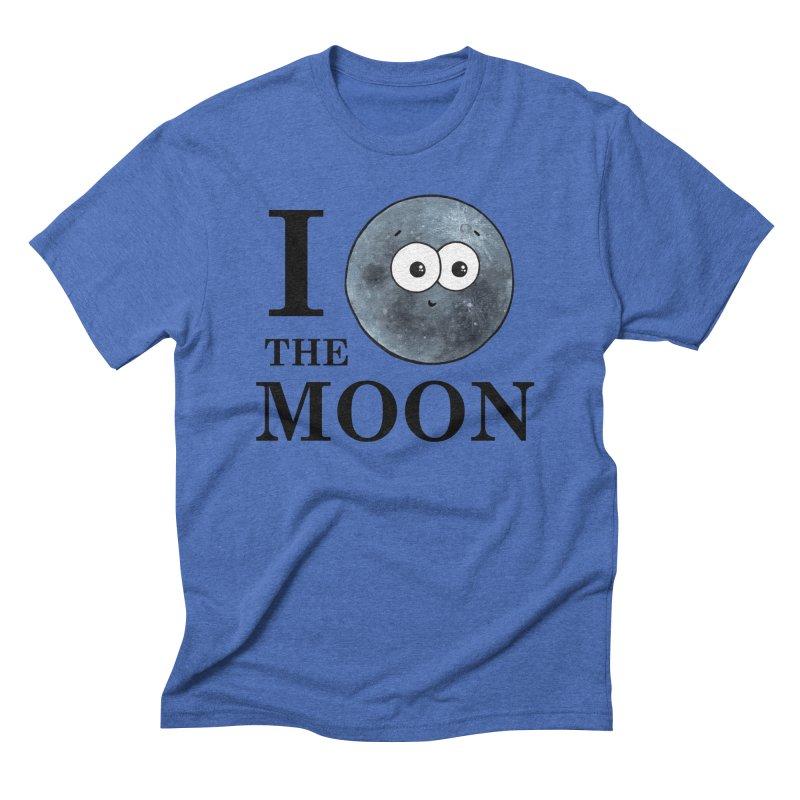 I Heart The Moon Men's T-Shirt by Adrienne Body