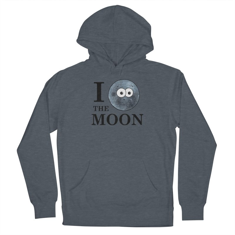I Heart The Moon Women's French Terry Pullover Hoody by Adrienne Body
