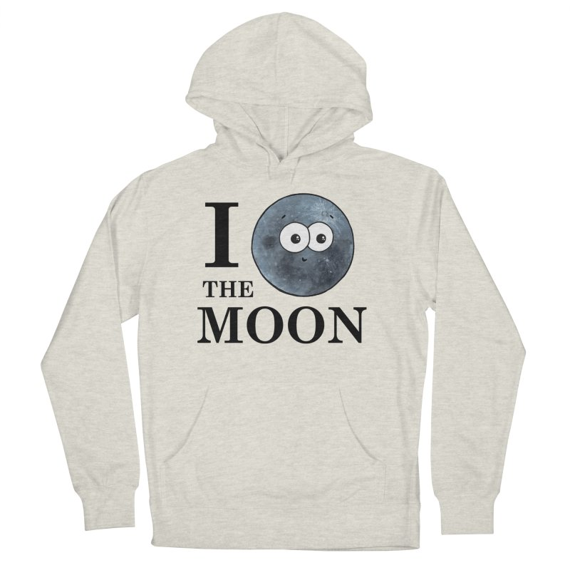 I Heart The Moon Men's French Terry Pullover Hoody by Adrienne Body