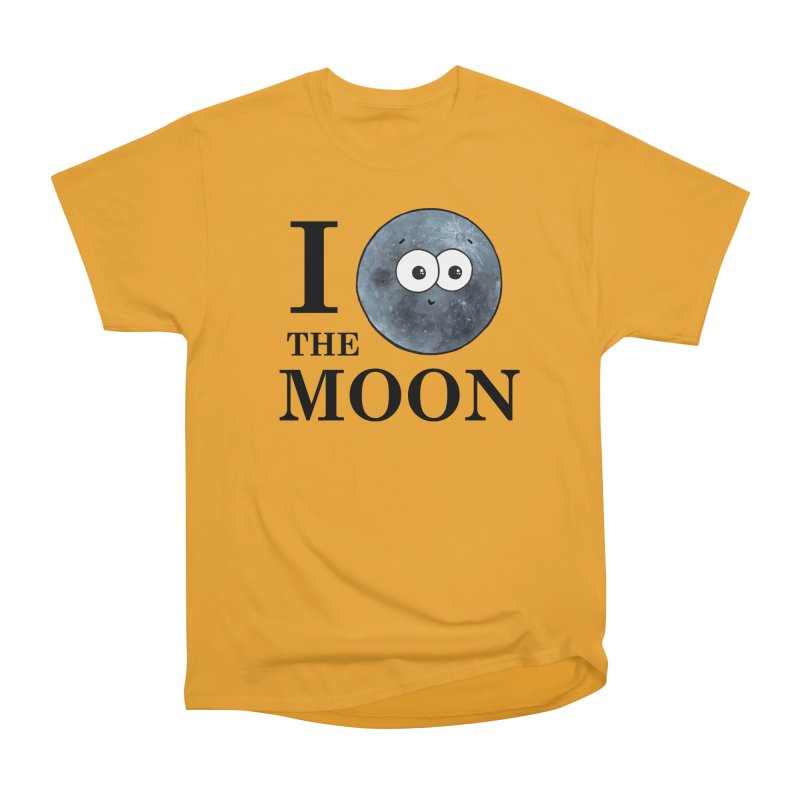 I Heart The Moon Women's Heavyweight Unisex T-Shirt by Adrienne Body