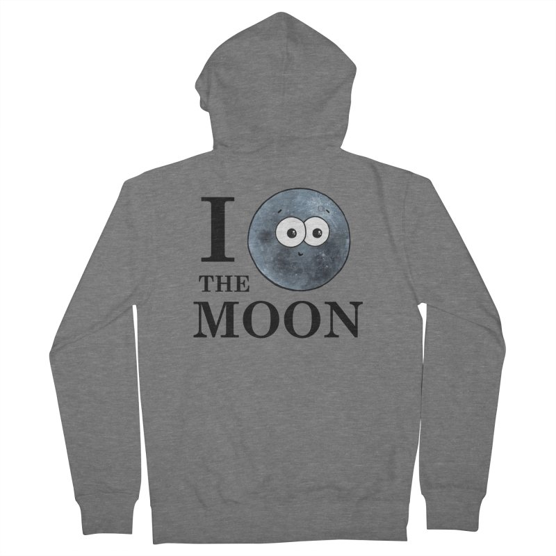 I Heart The Moon Women's French Terry Zip-Up Hoody by Adrienne Body