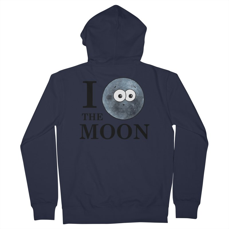I Heart The Moon Men's French Terry Zip-Up Hoody by Adrienne Body