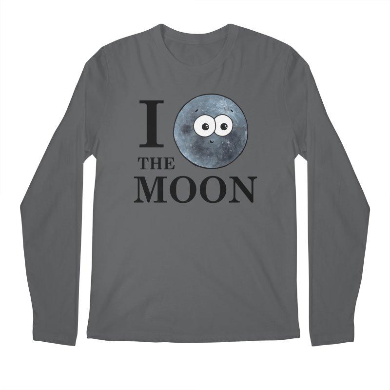 I Heart The Moon Men's Regular Longsleeve T-Shirt by Adrienne Body
