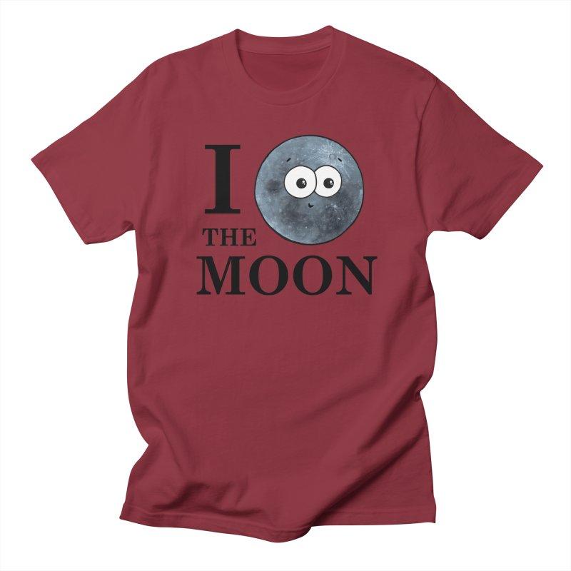 I Heart The Moon Men's Regular T-Shirt by Adrienne Body