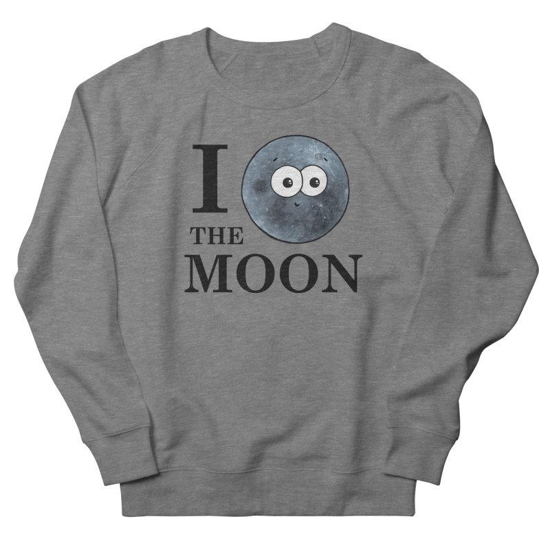 I Heart The Moon Women's French Terry Sweatshirt by Adrienne Body