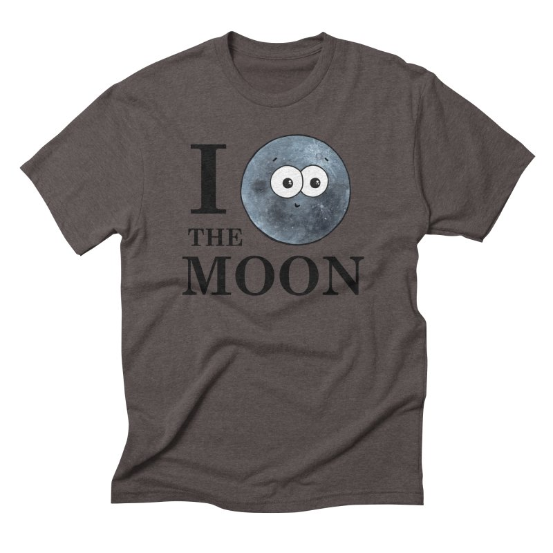 I Heart The Moon Men's Triblend T-Shirt by Adrienne Body