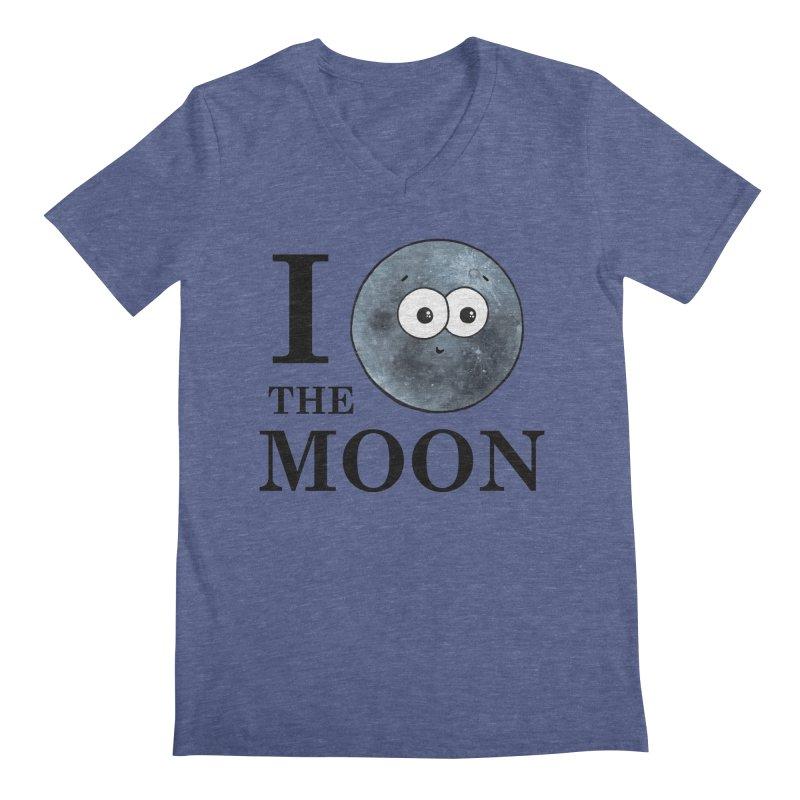 I Heart The Moon Men's Regular V-Neck by Adrienne Body