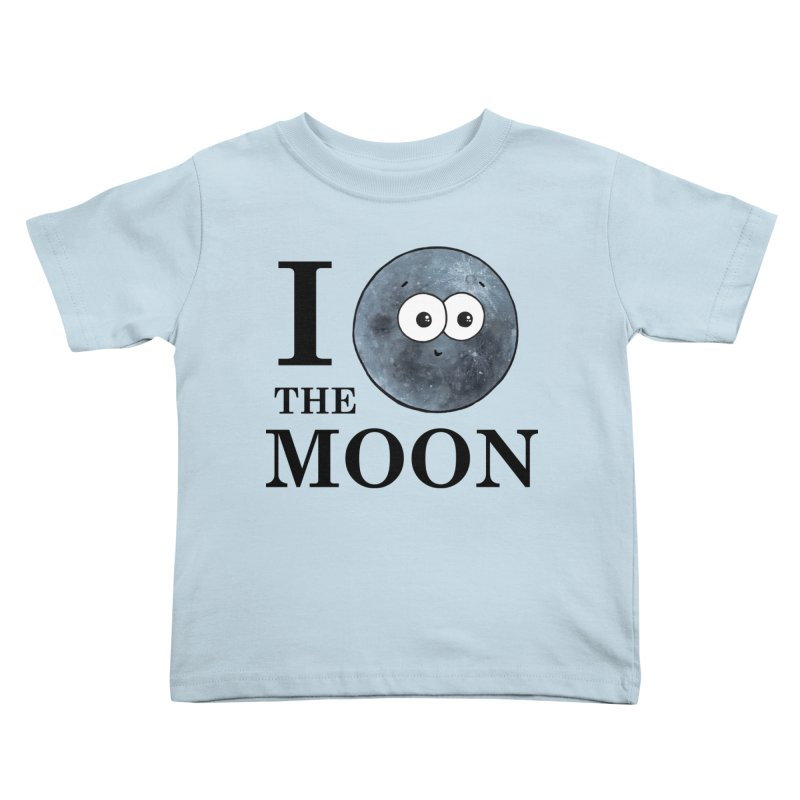 I Heart The Moon Kids Toddler T-Shirt by Adrienne Body