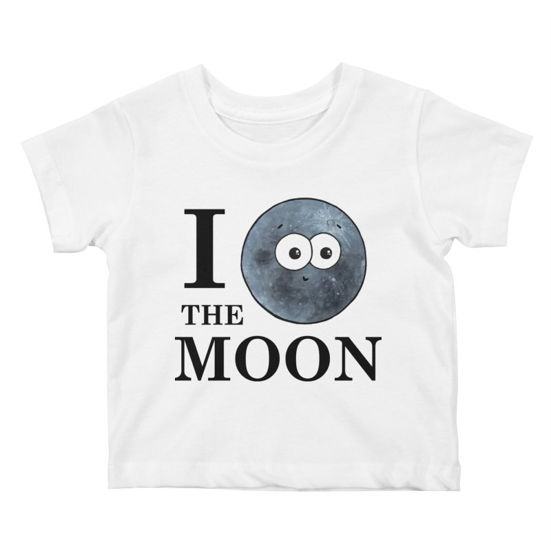 I Heart The Moon Kids Baby T-Shirt by Adrienne Body