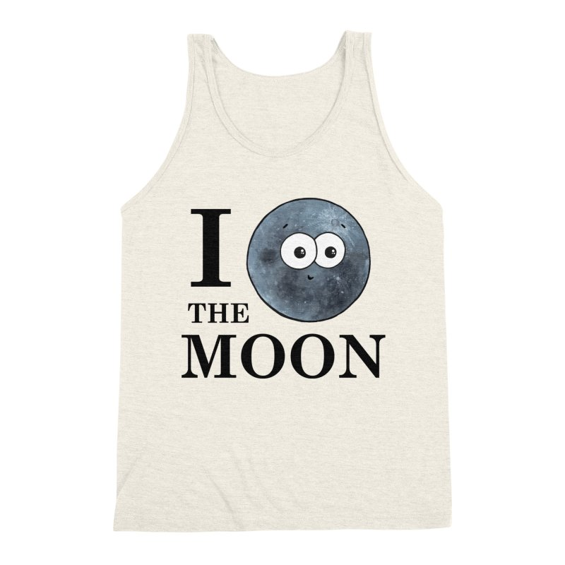I Heart The Moon Men's Triblend Tank by Adrienne Body