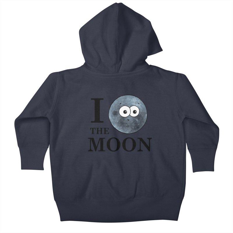 I Heart The Moon Kids Baby Zip-Up Hoody by Adrienne Body