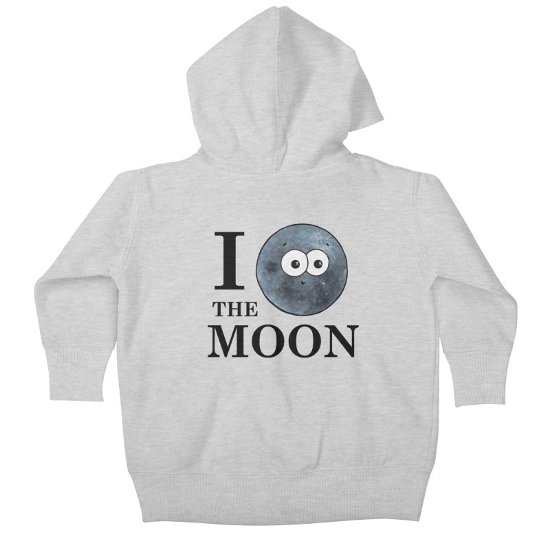 I Heart The Moon Kids Baby Zip-Up Hoody by Adrienne Body