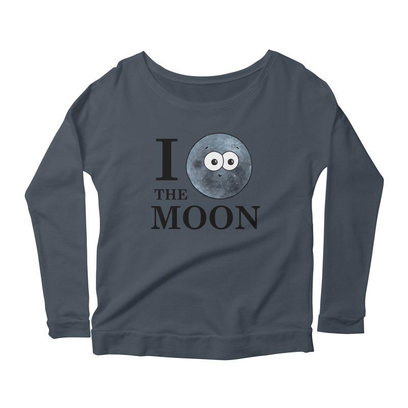 I Heart The Moon Women's Scoop Neck Longsleeve T-Shirt by Adrienne Body