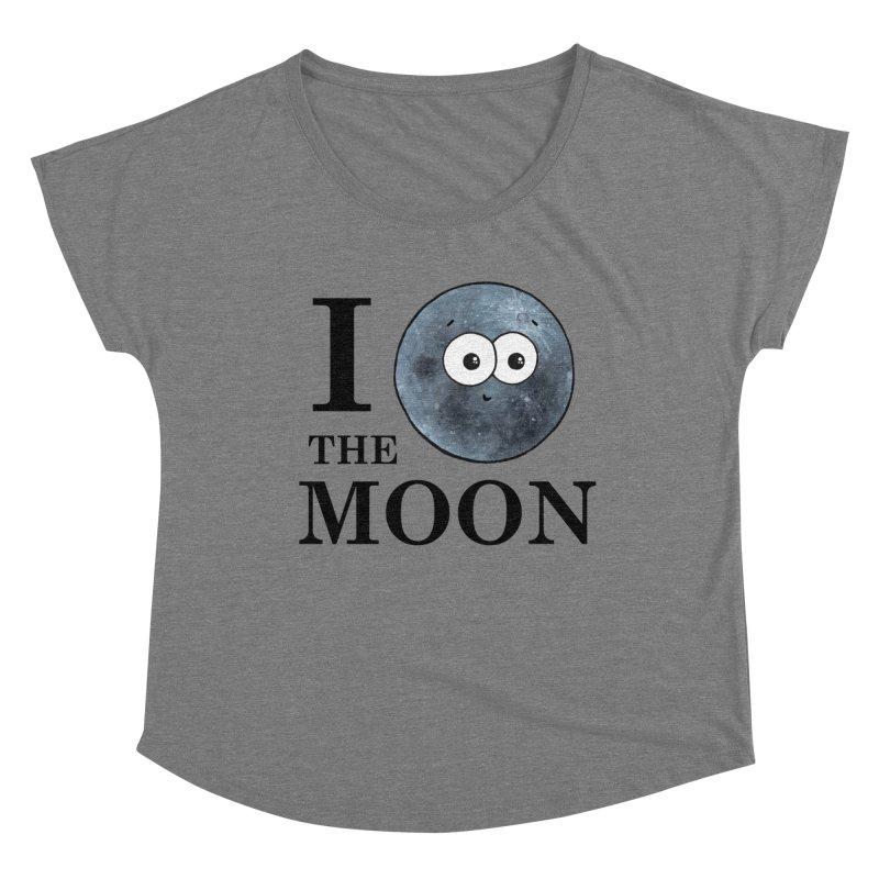 I Heart The Moon Women's Dolman Scoop Neck by Adrienne Body