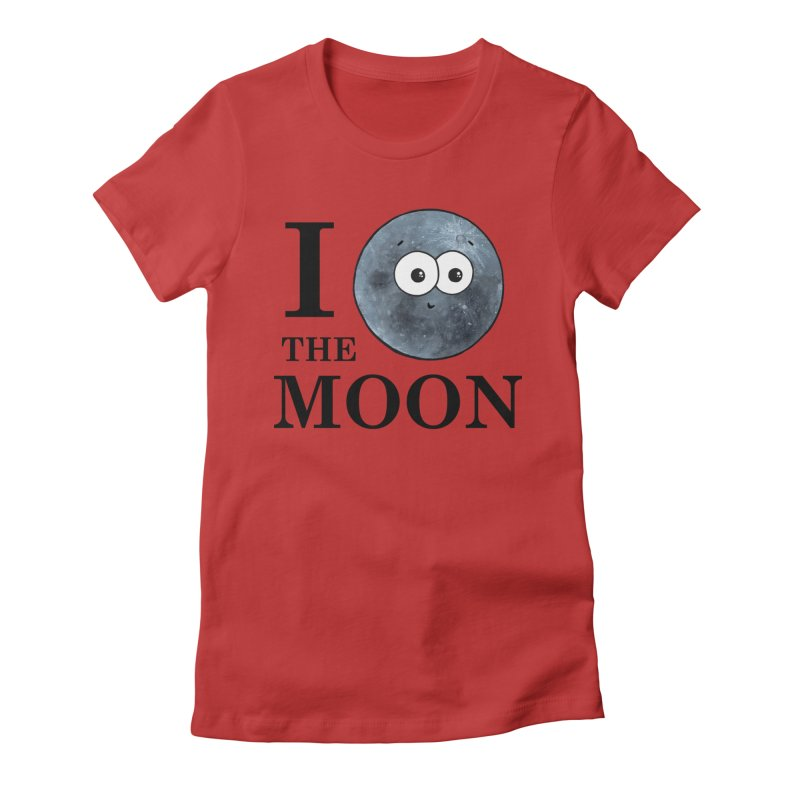 I Heart The Moon Women's Fitted T-Shirt by Adrienne Body
