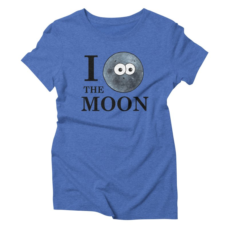 I Heart The Moon Women's Triblend T-Shirt by Adrienne Body