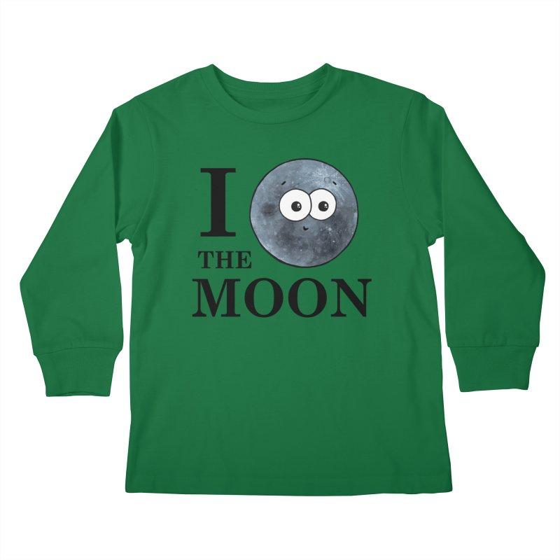 I Heart The Moon Kids Longsleeve T-Shirt by Adrienne Body