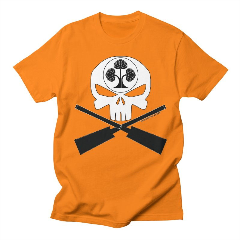 Skull and Ryoba Crossbones Men's Regular T-Shirt by Adventures In DIY-Stuff 4 Craftspeople