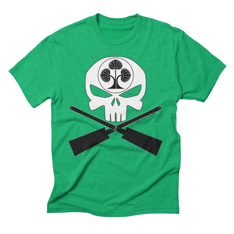 Skull and Ryoba Crossbones Men's Triblend T-Shirt by Adventures In DIY-Stuff 4 Craftspeople