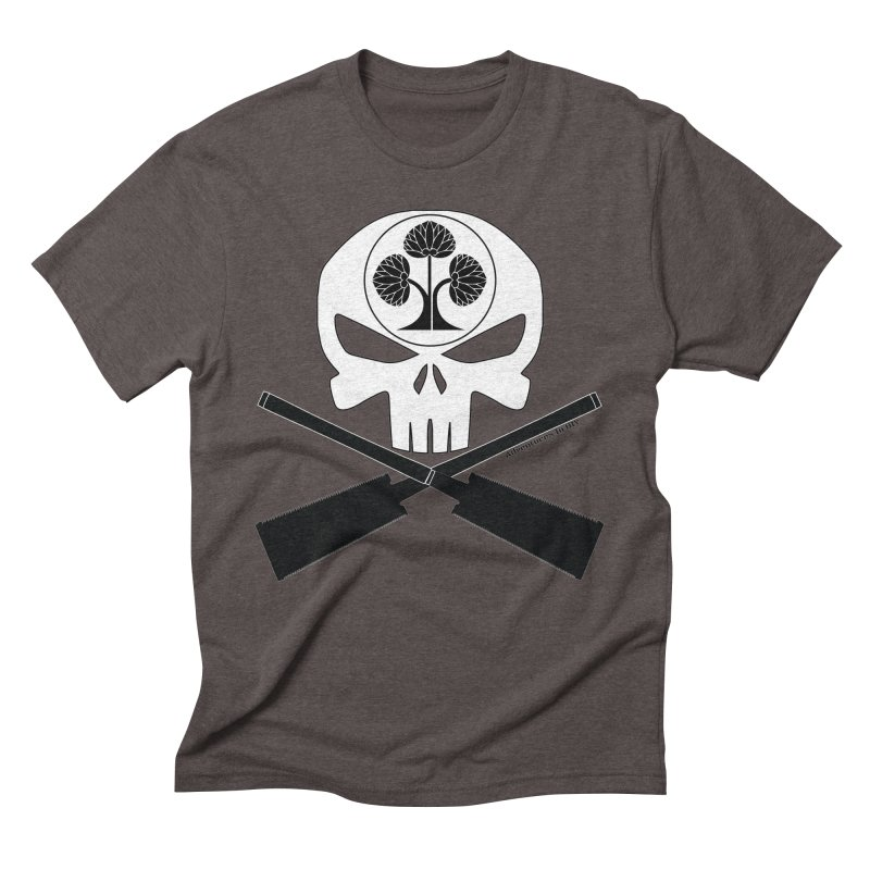 Skull and Ryoba Crossbones Men's Triblend T-Shirt by Adventures In DIY-Stuff 4 Craftspeople