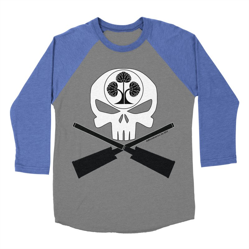 Skull and Ryoba Crossbones Women's Baseball Triblend Longsleeve T-Shirt by Adventures In DIY-Stuff 4 Craftspeople