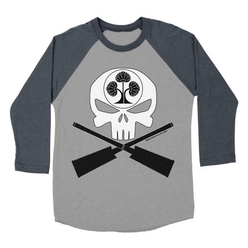 Skull and Ryoba Crossbones Women's Baseball Triblend Longsleeve T-Shirt by Adventures In DIY-Stuff 4 Craftspeople