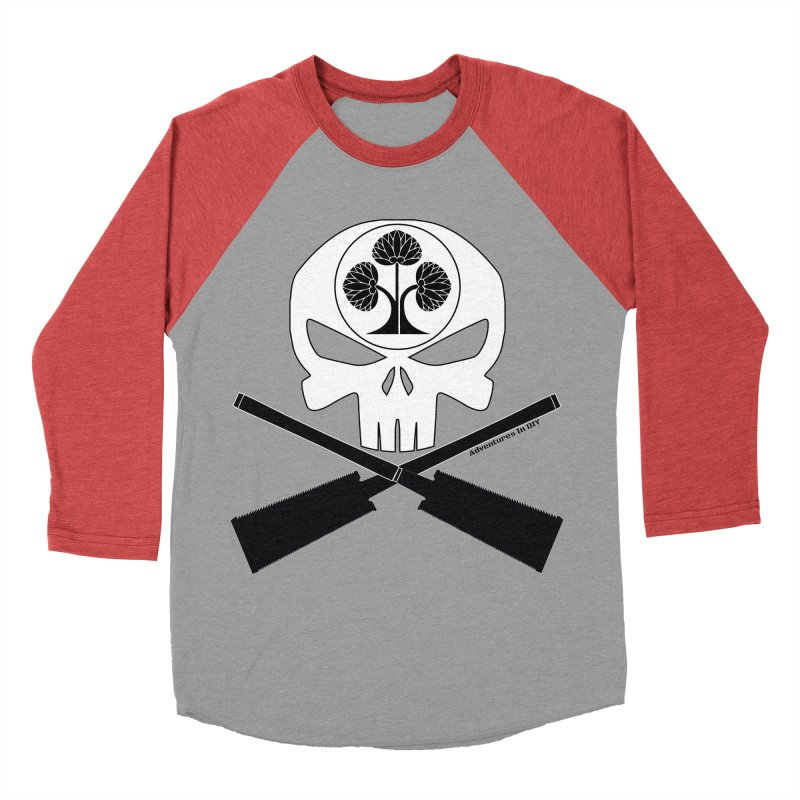 Skull and Ryoba Crossbones Men's Longsleeve T-Shirt by Adventures In DIY-Stuff 4 Craftspeople