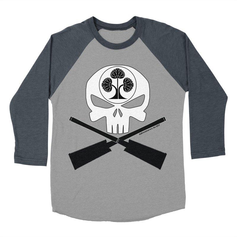 Skull and Ryoba Crossbones Men's Baseball Triblend Longsleeve T-Shirt by Adventures In DIY-Stuff 4 Craftspeople