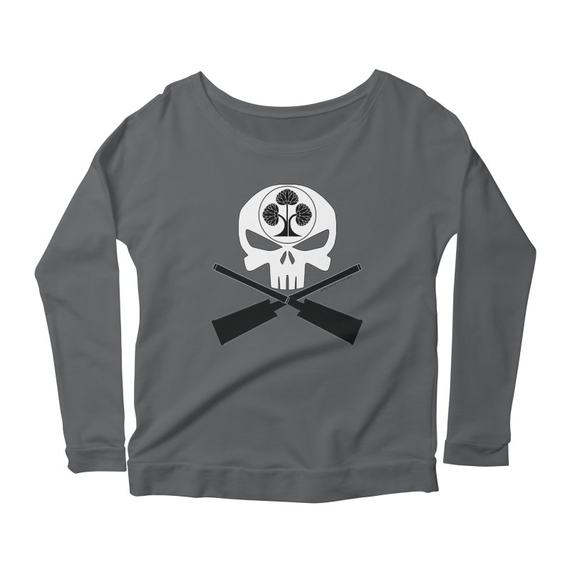 Skull and Ryoba Crossbones Women's Scoop Neck Longsleeve T-Shirt by Adventures In DIY-Stuff 4 Craftspeople