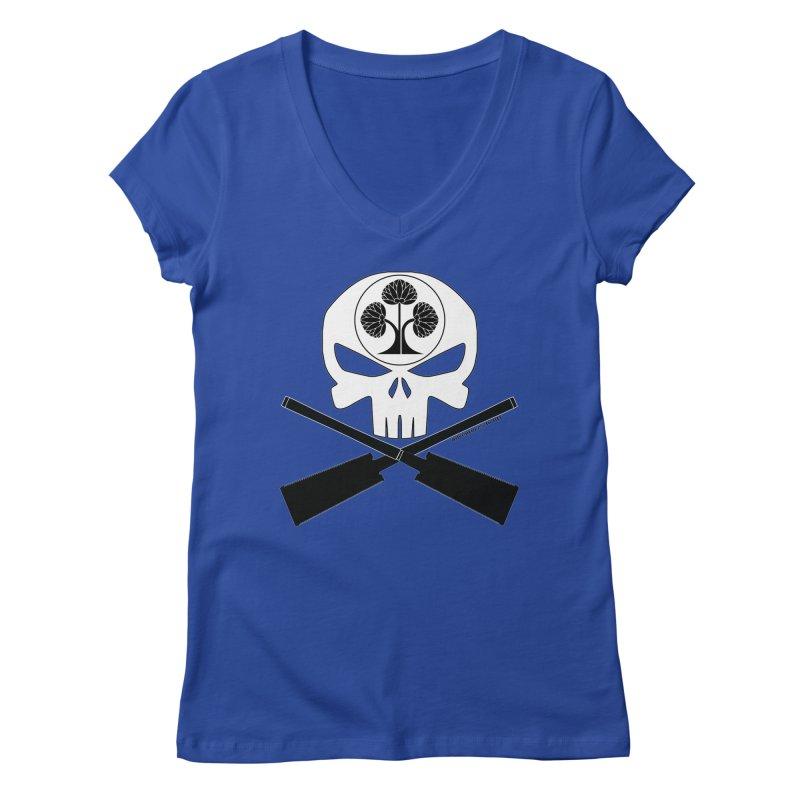 Skull and Ryoba Crossbones Women's Regular V-Neck by Adventures In DIY-Stuff 4 Craftspeople