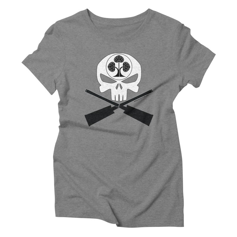 Skull and Ryoba Crossbones Women's Triblend T-Shirt by Adventures In DIY-Stuff 4 Craftspeople