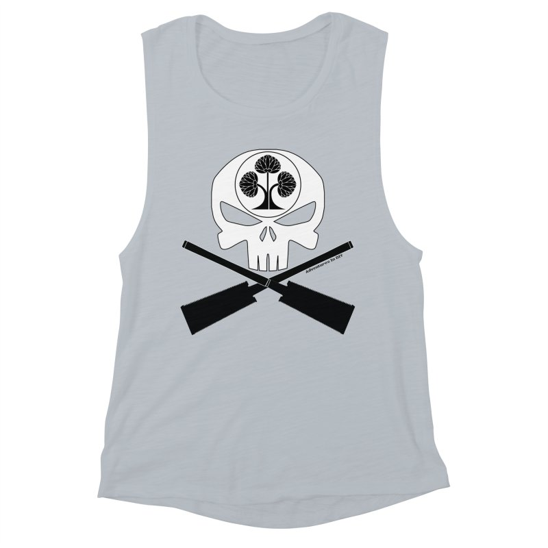 Skull and Ryoba Crossbones Women's Muscle Tank by Adventures In DIY-Stuff 4 Craftspeople