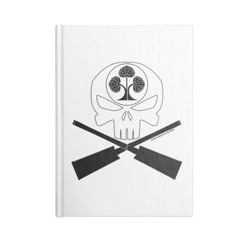 Skull and Ryoba Crossbones Accessories Blank Journal Notebook by Adventures In DIY-Stuff 4 Craftspeople
