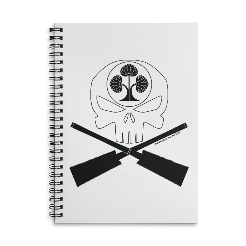 Skull and Ryoba Crossbones Accessories Lined Spiral Notebook by Adventures In DIY-Stuff 4 Craftspeople